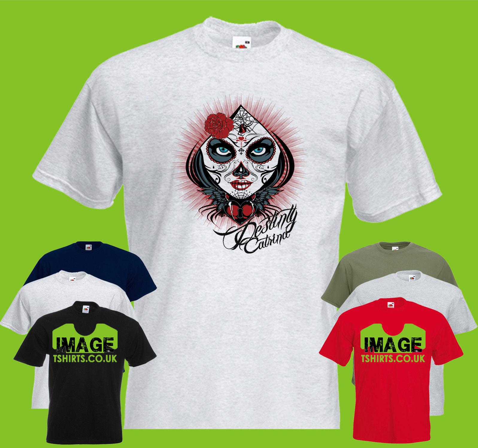 a0ae50adb4d Destiny Catrina Mens PRINTED T-SHIRT Flower Heart Rose Spider Wings ...