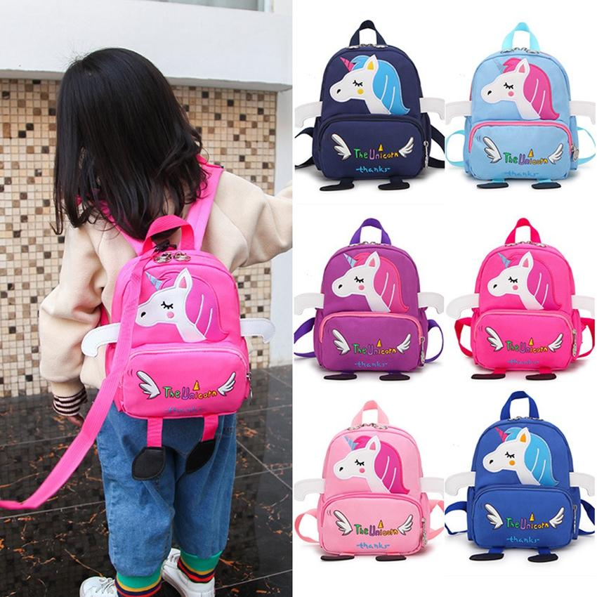 2a16c258cc Mini Unicorn Backpack Kids Canvas School Bags Cute Cartoon Unicorn ...