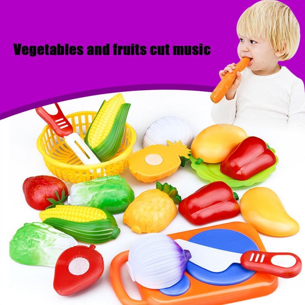 Zauberartikel & -tricks 54Pcs Simulate Kitchen Slicing Toy Set Kids Fruit Vegetable Cooking Toy G6