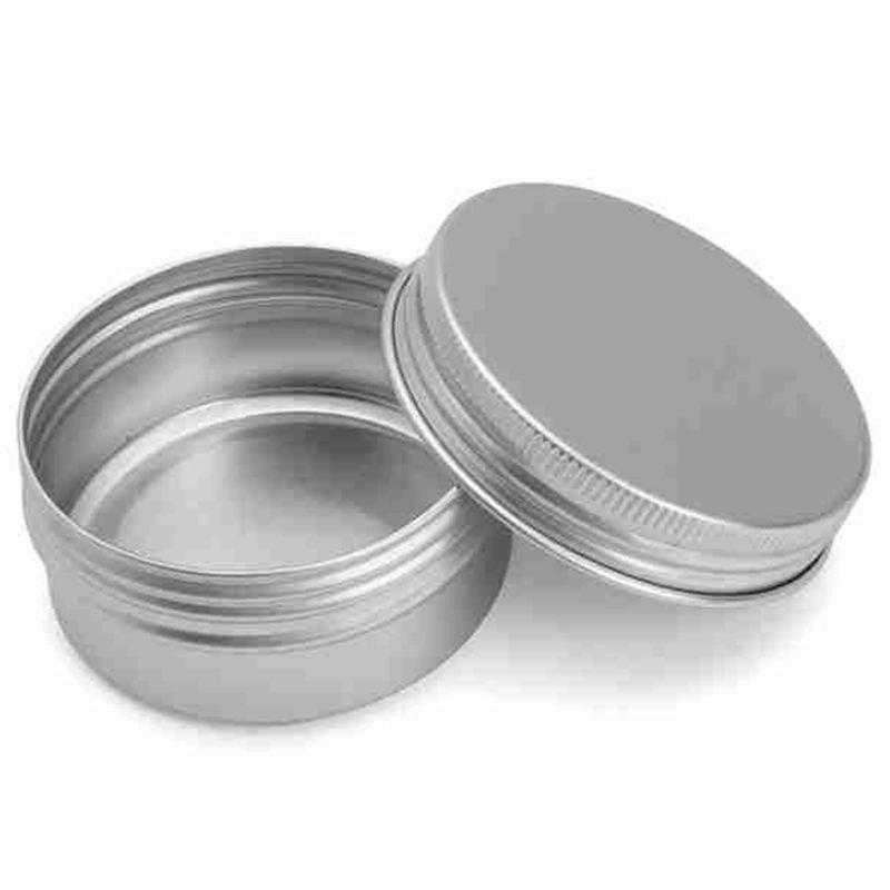 70pcs 60ml Metal Tin Steel Flat Silver Metal Tins Jars Empty Slip Slide Round Tin Containers With Tight Sealed Twist Screwtop Cover