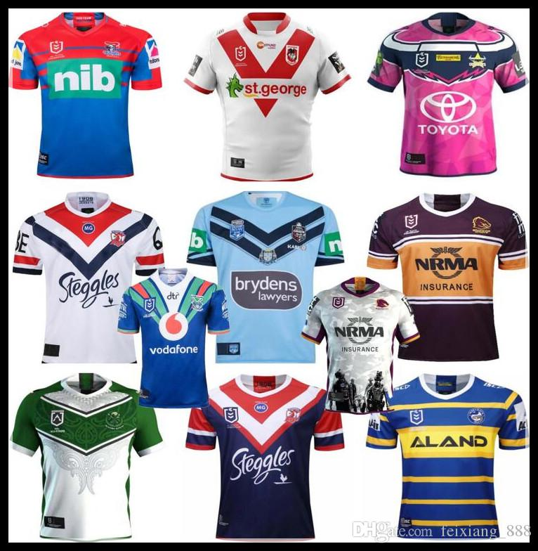 a510656f913 2019 Brisbane Broncos rugby Jerseys west tigers MAORI KIWIS SYDNEY ROOSTERS  Cowboys Warriors Eels KNIGHTS St. George Holton rugby Jersey