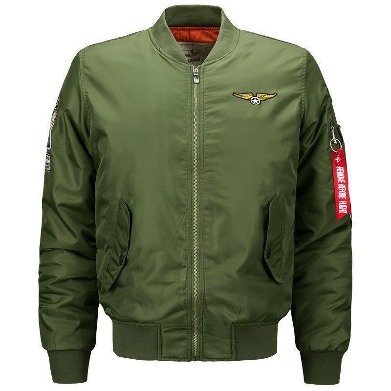 e78e462d9 Wholetide Nice Fashion Rib Bottom Pendulum Ma1 Pilot Jackets Embroidery  Technology Mens Designer Jackets Pure Color Face Jackets Men