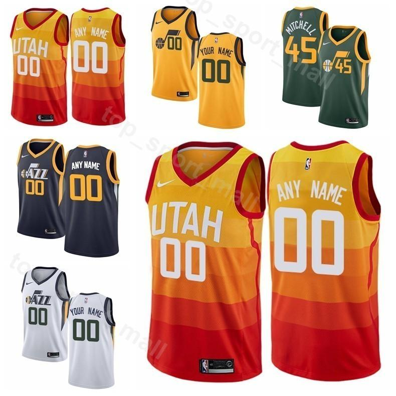 buy online fe82d 54f99 Men Youth Women Printed Basketball Rudy Gobert Jersey Edition City Earned  27 Donovan Mitchell 45 Ricky Rubio 3 Joe Ingles 2 Jae Crowder