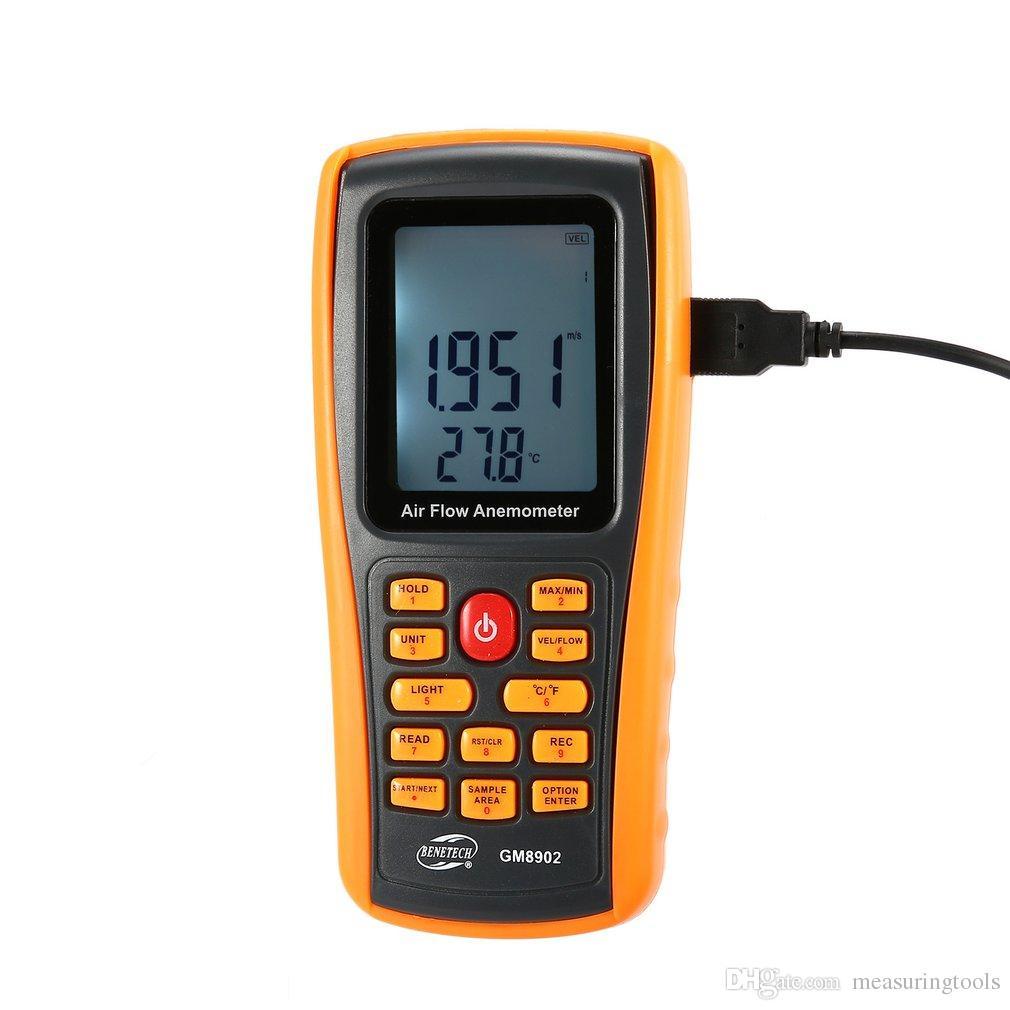 42d15a71b444 Compre GM8902 0 45M   S Anemómetro Digital Medidor De Velocidad Del Viento  Volumen De Aire Probador De Temperatura Ambiente Con Interfaz USB A  136.92  Del ...