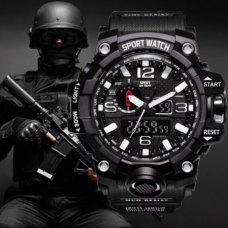 fbdc1184e9b Compre G Estilo Choque Homens Militar Do Exército Mens Watch Reloj Led  Digital Sports Relógio De Pulso Presente Analógico Automático Relógios  Masculino ...