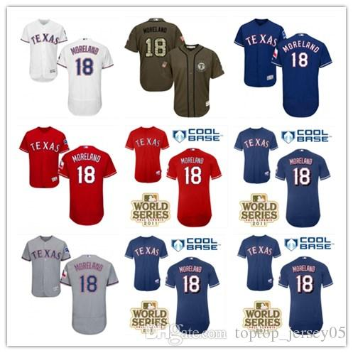 new style a4127 ca53c 2018 top Texas Rangers Jerseys #18 Mitch Moreland Jerseys  men#WOMEN#YOUTH#Men's Baseball Jersey Majestic Stitched Professional  sportswear