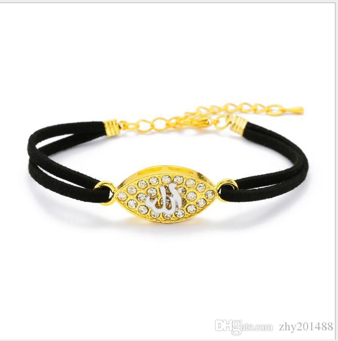Jewelry Bracelet gold-plated double-color bracelet with diamond inlay for men and women