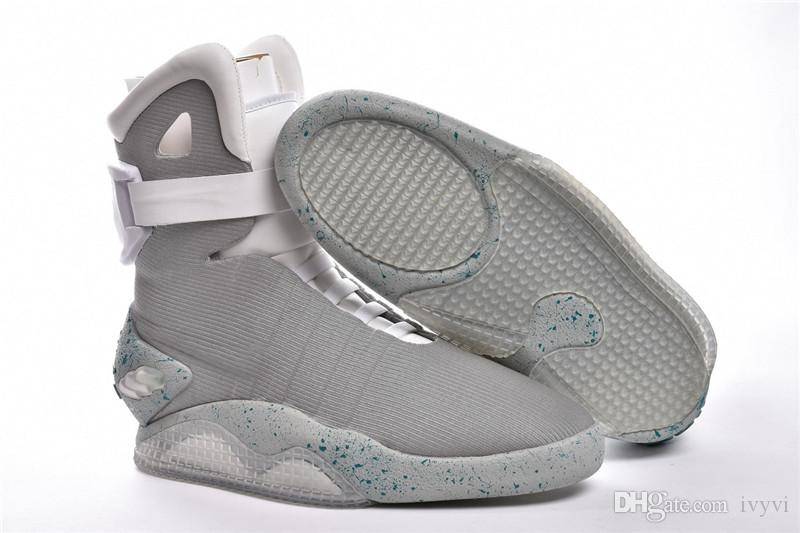 799cb5d46ed US7-13 Automatic Laces Air Mag Sneakers Marty McFly LED Shoes Back To The  Future Glow In The Dark Gray Boots McFlys Sneakers With Box Online with ...