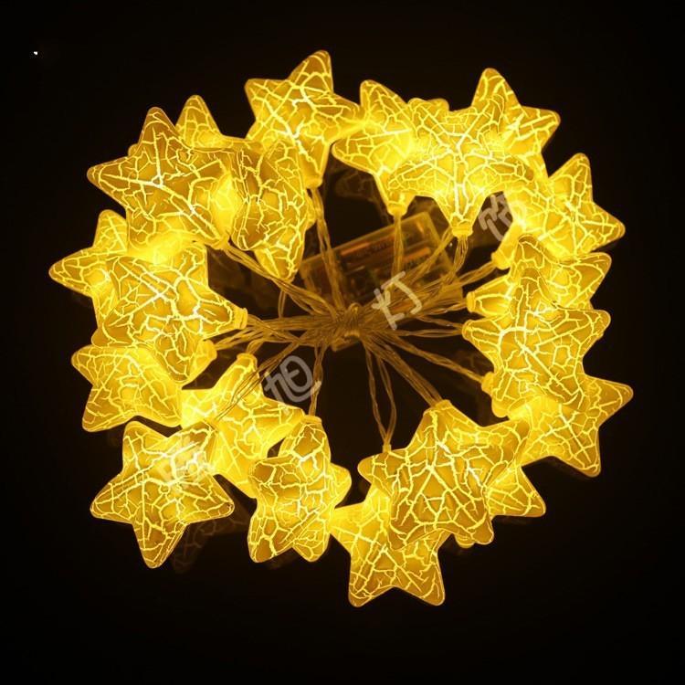 Acheter Led Lampe Chaine Pendentif Craquelure Etoiles Lampe Etoile A