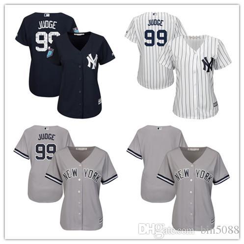 9f339bff2ef Custom Men s Women Youth Yankees Jersey  99 Aaron Judge  00 No Your ...