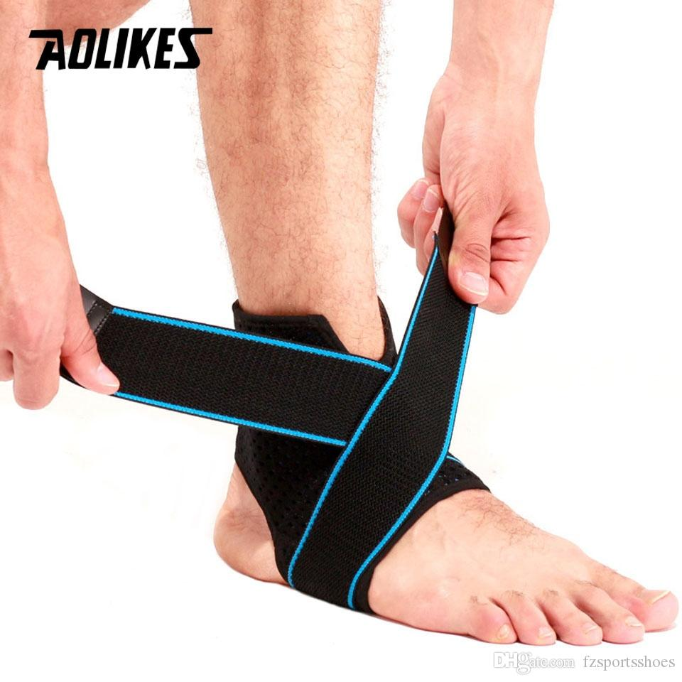AOLIKES 1PCS Ankle Support Brace Compression Sleeve with Adjustable Strap for Women Men Ankle Wrap Football Basketball Running #70276