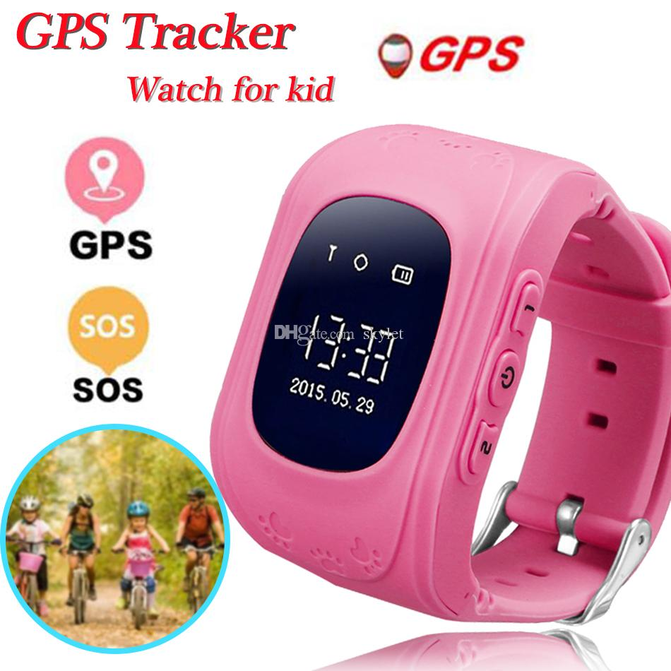 Q50 Child Smart Watch for Kids Wristband GPS Tracker LBS SOS Smart Bracelet  Wristband for Apple Android Cellphones with Box
