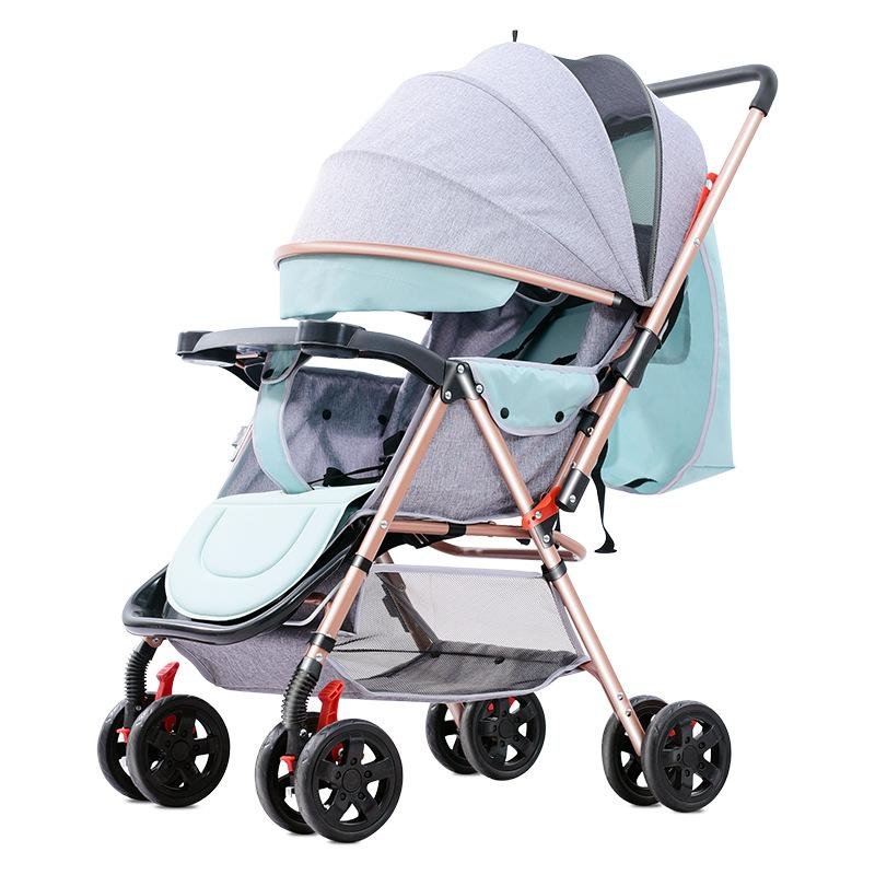c06c42e48 Compre Alta Paisagem Carrinho De Bebê Pode Sentar E Dobrar Leve Viagem  Guarda Chuva Do Bebê Carro Carrinho De Criança Fourwheel Carrinho De  Criança De ...