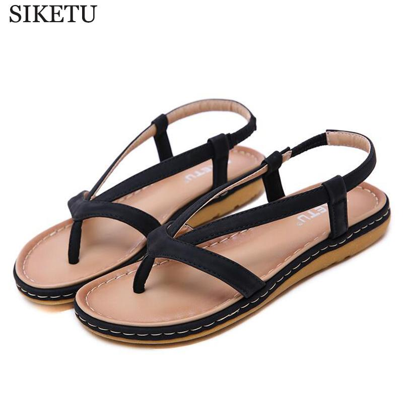 72299b35c2f3 Women Sandals Slip On Elastic Band Female Summer Shoes Platform Roman Flip  Flops Flat Sandals Mujer Sandalias Ladies Footwear C6 Summer Sandals Men  Sandals ...