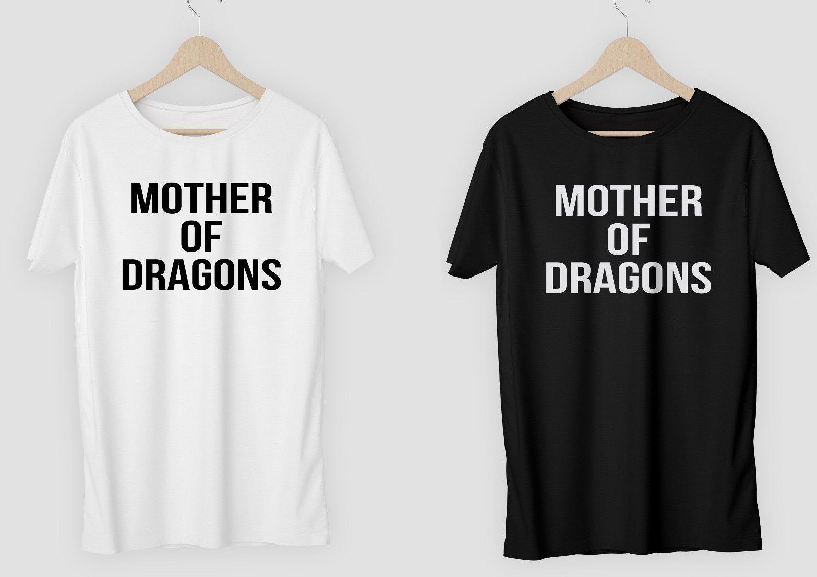 07b6ff80e Mother Of Dragons T SHIRT OR Diy VINYL LADIES V NECK Game Of Thrones  Khaleesi Funny Unisex Cool Shirts Formal Shirts From Tshirtbakers, $12.96|  DHgate.Com