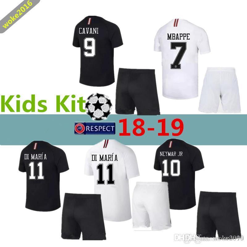 784141dc7 PSG 18 19 MBAPPE Children s Suit Football Shirt 2018 2019 CAVANI ...