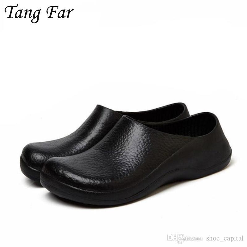 Non Slip Kitchen Shoes For Men Waterproof Boat Shoes Man Hotel Chef