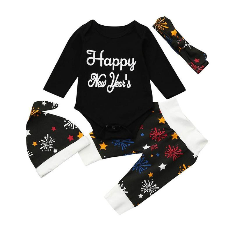 5db616e89 2019 Baby Christmas Clothes My First New Year Fireworks Long Sleeve ...