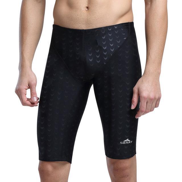 d32f91f84f43 2019 Traje de baño Hombres Competencia de natación Calzoncillos Troncos  Traje de baño masculino Carreras Jammers Piel de tiburón Pantalones cortos  ...
