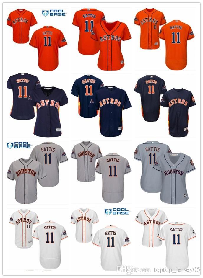 2018 Top Houston Astros Jerseys  11 Evan Gattis Jerseys Men WOMEN YOUTH Men s  Baseball Jersey Majestic Stitched Professional Sportswear Online with ... ecf478797