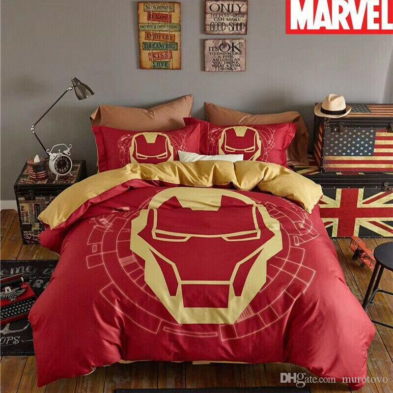 Großhandel Neuer Designer Marvel Iron Man Bettbezug Queen Bettwäsche