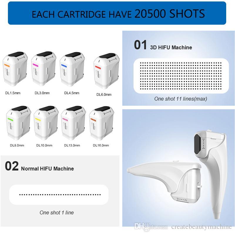 HIFU machine hifu wrinkle removal weight loose High Intensity Focused Ultrasound portable hifu facial lift Machine 8 cartridges