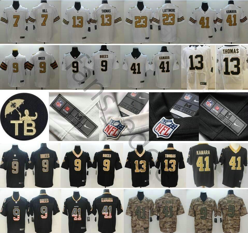 2019 New Orleans Jerseys #9 Drew Brees 41 Alvin Kamara Saints 7  for sale