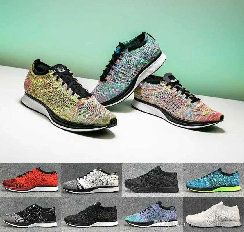 a04ad428ef21 2019 2018 Running Shoes For Men Mesh Multicolor Volt Oreo Fly Racer Casual Shoes  Sports Air Lunar Brand Mens Womens Trainers Sneakers Eur 36 45 From ...