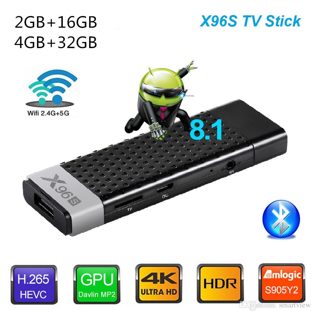 X96S Fire TV Stick Android 8.1 ТВ-бокс Amlogic S905Y2 DDR4 2 ГБ / 16 ГБ 4 ГБ / 32 ГБ Bluetooth 4K МИНИ-Dongle IPTV медиа-плеер