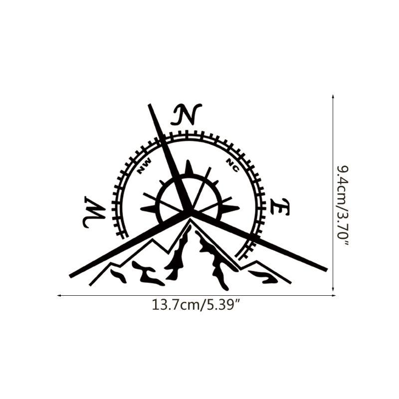 2019 13 7x9 4cm Nswe Mountains Compass Rose Decal Nautical Compass