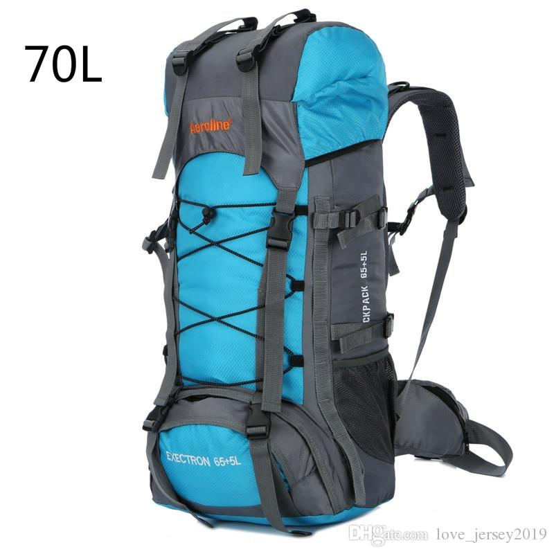 ee0a9a2924 2019 70L Outdoor Climbing Bags Waterproof Hiking Bag Sports Backpack  Camping Travel Pack Mountaineer Climbing Sightseeing Rucksack  317828 From  ...