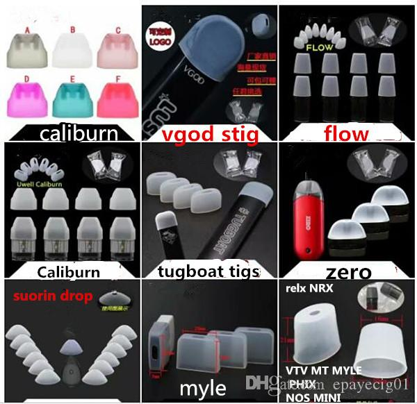 clear silicone vape mouth piece cover testing wide bore drip tip tester for myle caliburn zero vgod stig flow suorin drop coco j pod