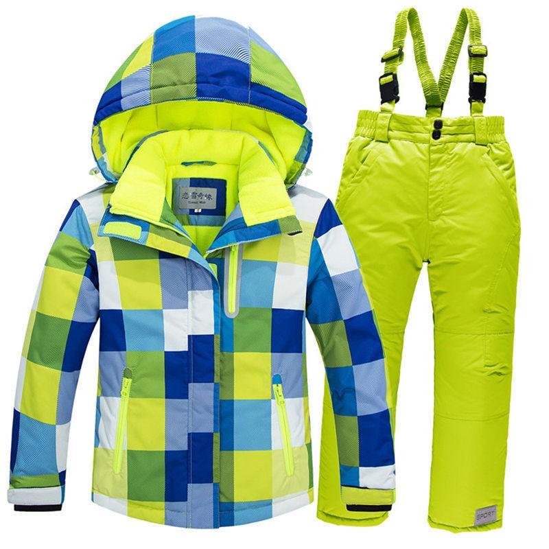 8af53fea0 2019 30 Children Snow Suit Coats Ski Suit Sets Outdoor Gilr Boy ...