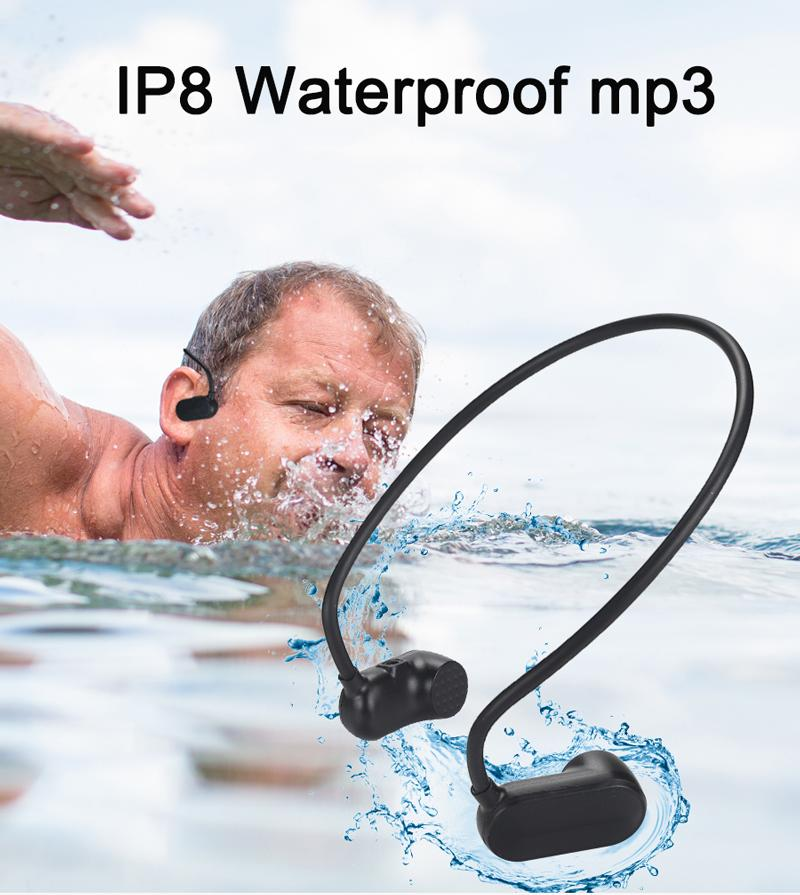 accept one piece 2019 Running / Swimming Under Water USB Bone Conduction Best portable Waterproof MP3 Players 8g,16g