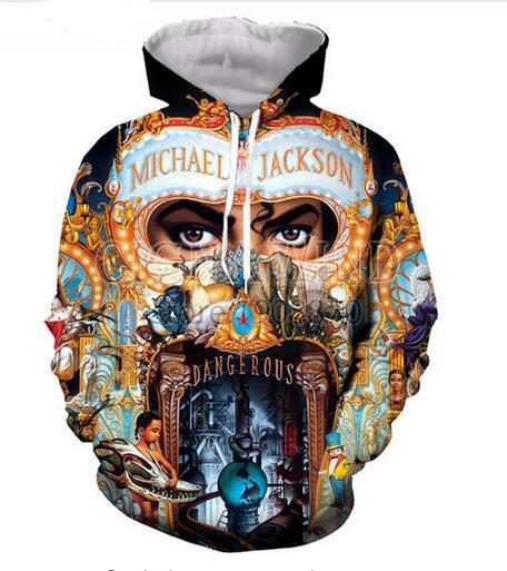 4ce71affc Vêtements de mode Michael Jackson Hommes Femmes Hoodies Unisexe Style  Décontracté 3d Imprimer Sweat À Capuche Hip Hop Sweat Veste Pull Tops R0160