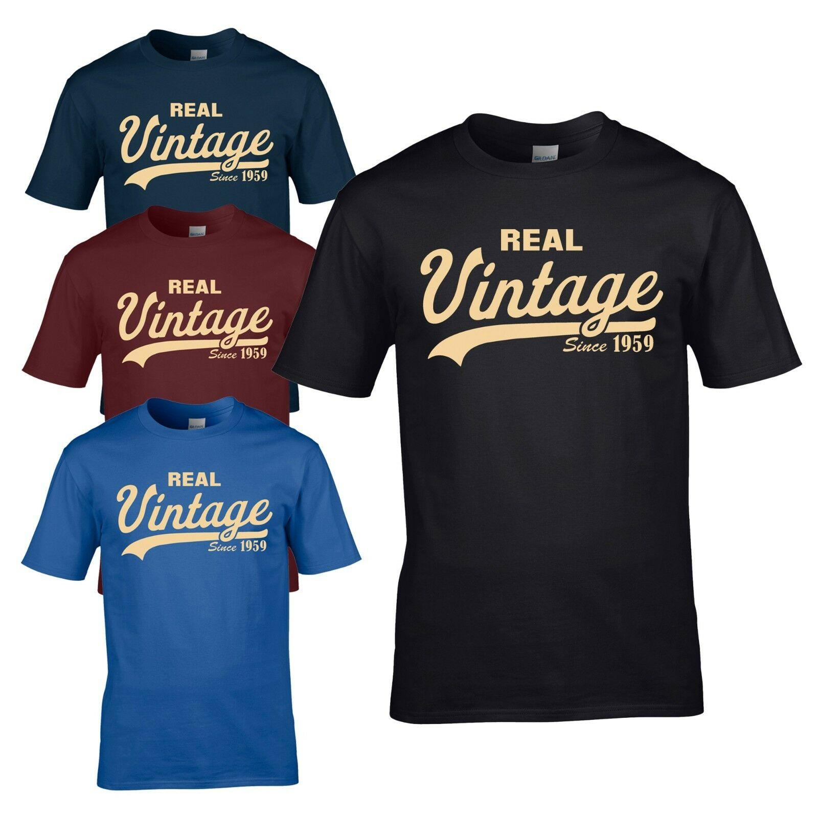 Vintage Since 1959 T Shirt Funny Novelty 60th Birthday Present Mens Gift Top Unisex Casual Tshirt Site Printing Of From Workwearstores