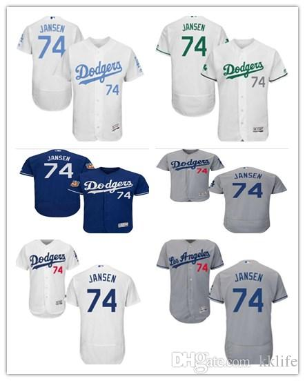 71c2ecbee Can Custom Los Angeles Dodgers Baseball Wear Women men youth 74 Kenley  Janse Base Authentic Collection Majestic Baseball Jerseys Online with   26.04 Piece on ...