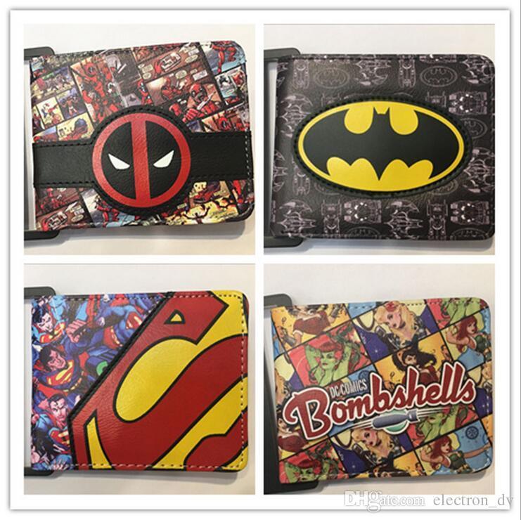 6b4e839ed Compre Marvel Series DC Comic Hero Batman Superman Billetera De Estudiante  Cuero PU A $3.0 Del Electron_dv   DHgate.Com