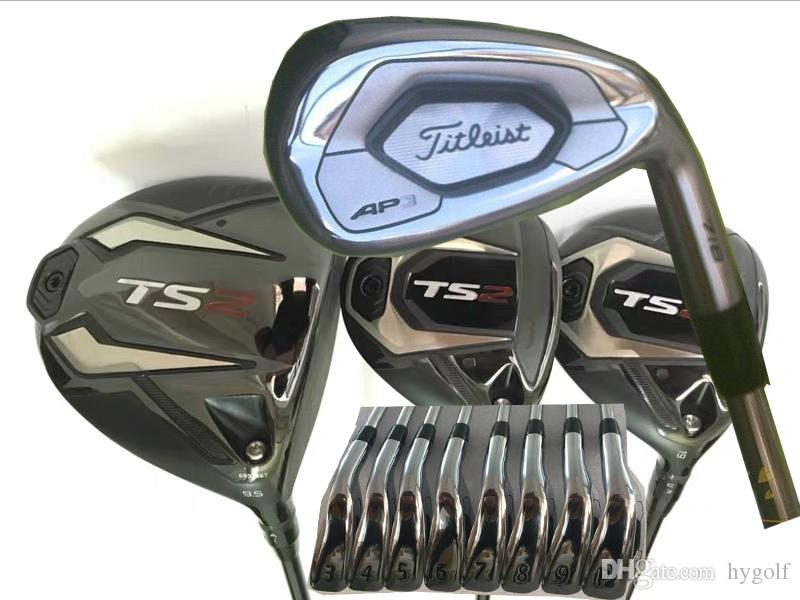 Full Set Golf Clubs TS2 Driver #3 #5 Fairway Woods AP3 718 Irons Set 10  Kind Shaft Available