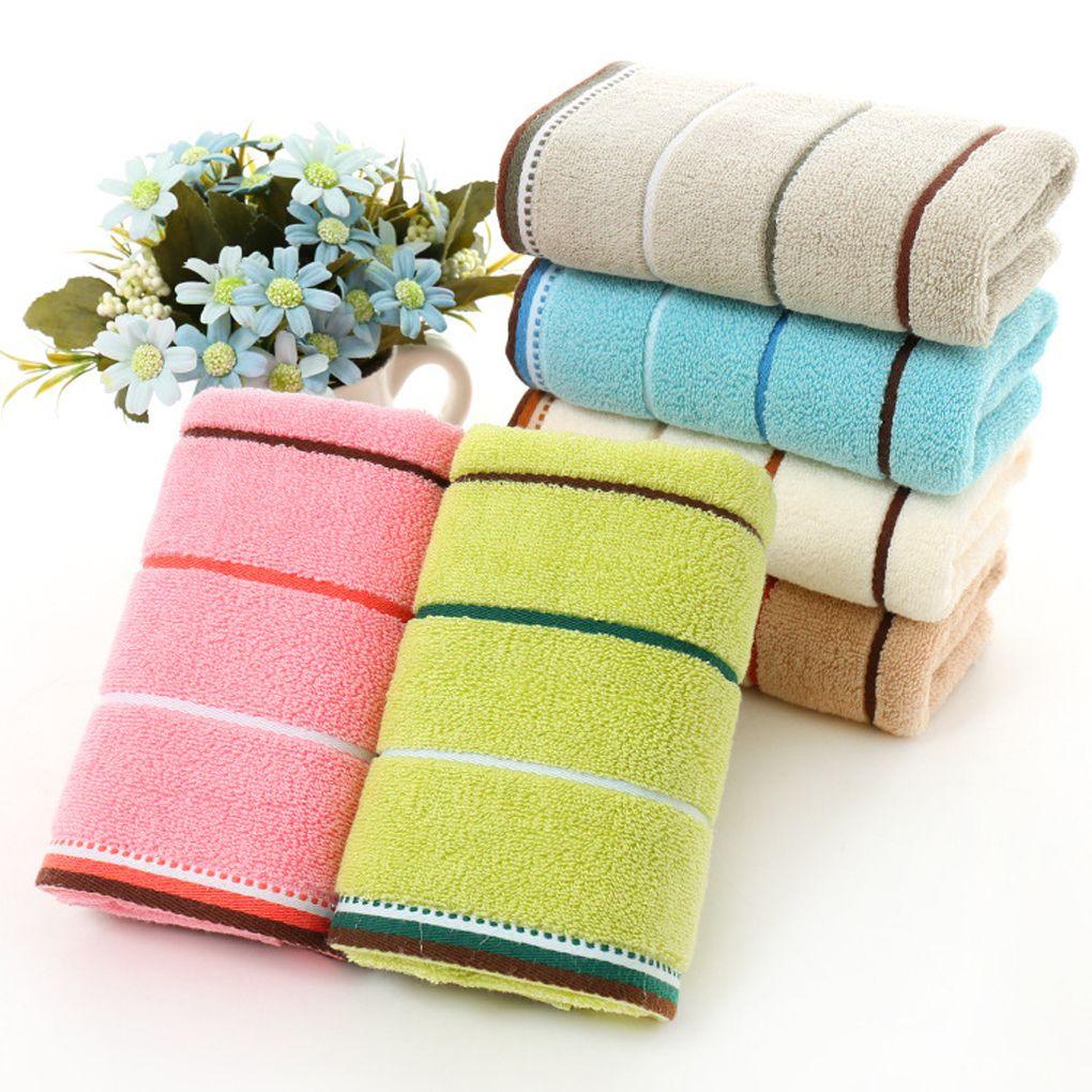 adorable simple cotton towel stripe face hand bath cloth bathroom rh dhgate com