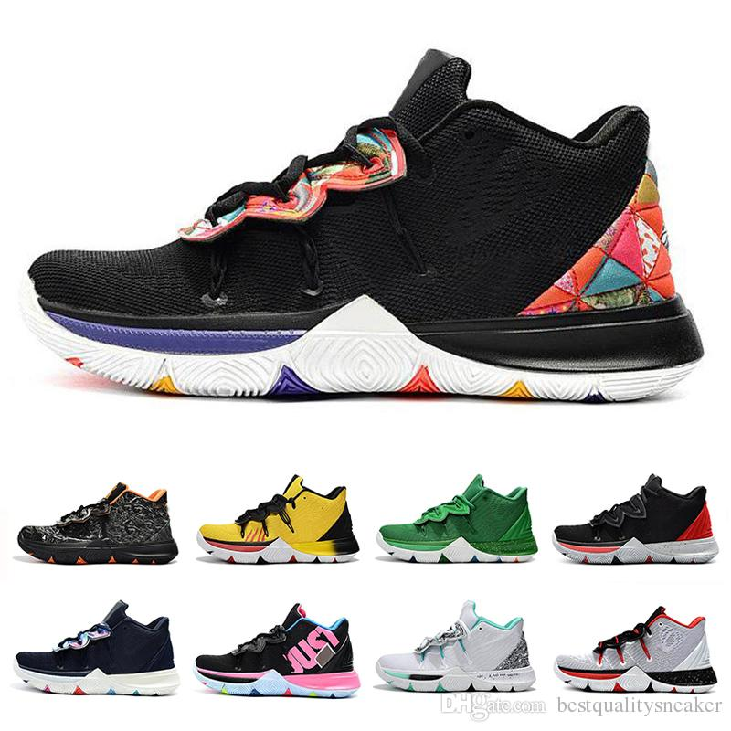 online store 75003 67ead 2019 Newest Kyrie Five 5 Zoom 5s Men Basketball Shoes Triple Black White  Magic For Kyries Luxury Designer Sneakers Mens Trainers Size 40-46