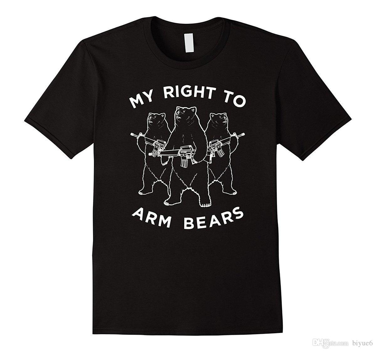 6931e79ebe613 Funny Bear Tee, My RIght To Arm Bears Graphic Shirt T Shirt Short Sleeve  Top Tee Rude Top Tee Round Neck Top Tee T Shirt Ot Shirts Best Designer T  Shirts ...
