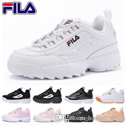 Women   Men FILA II 2 White Authentic Shoes Unisex White Black Grey ... d230d1526