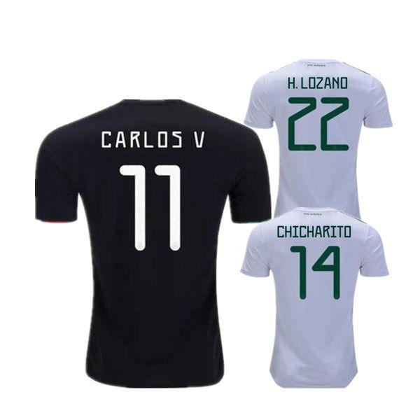 3df0baef8 2019 2019 Gold Cup Mexico Home Black CHICHARITO Soccer Jerseys G. DOS  SANTOS C. VELA HERNANDEZ H. LOZANO GUARDADO JIMENEZ MARQUEZ Football Shirts  From ...