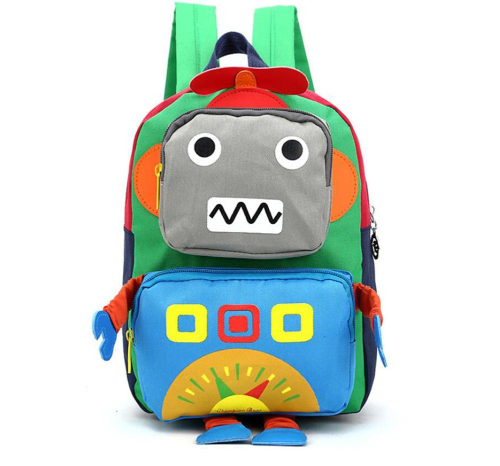 458c9f33ffe8 3D Cartoon Kids Bag Robot Mochila Children Backpacks Kindergarten Backpack  Child School Bags Satchel For Baby Boys And Girls Laptop Backpacks Bum Bags  From ...