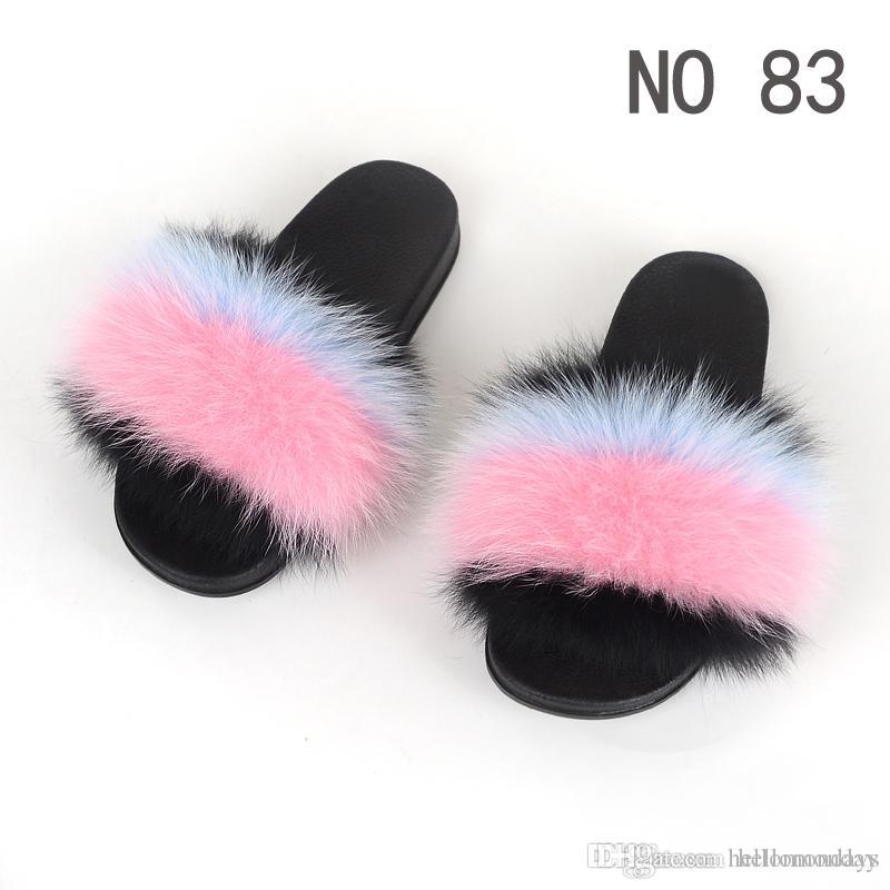 5bee20615c890 New Design Fur Slides for Women Fuzzy Sandals Anti-Skid Flip Flop Furry  Slides Soft Flat Slippers for Beach Casual Shoes Custom Logo Accept