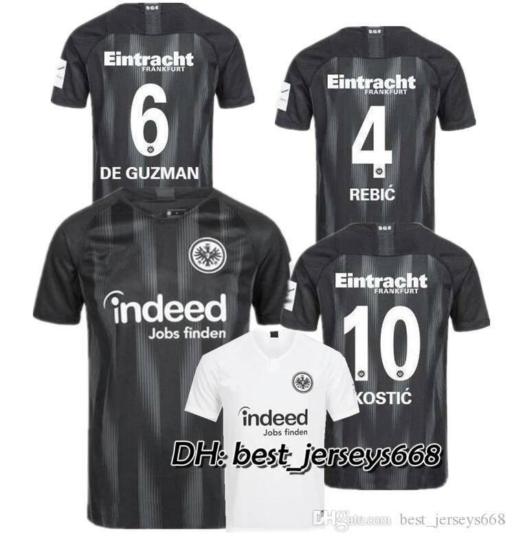 7566c1ed0 18 19 Eintracht Frankfurt Camiseta De Fútbol Local Lejos 2018 2019 Frankfurt  Europa League HALLER JOVIC REBIC Camisetas De Fútbol De Calidad Superior ...