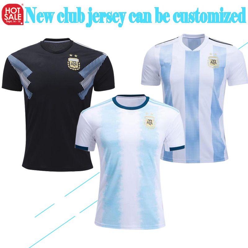 new product 23e1d 89737 Top Thailand Argentina National Team soccer Jersey MESSI DYBALA 2018/19  Men's Sweatshirt High Quality Football Sweatshirt