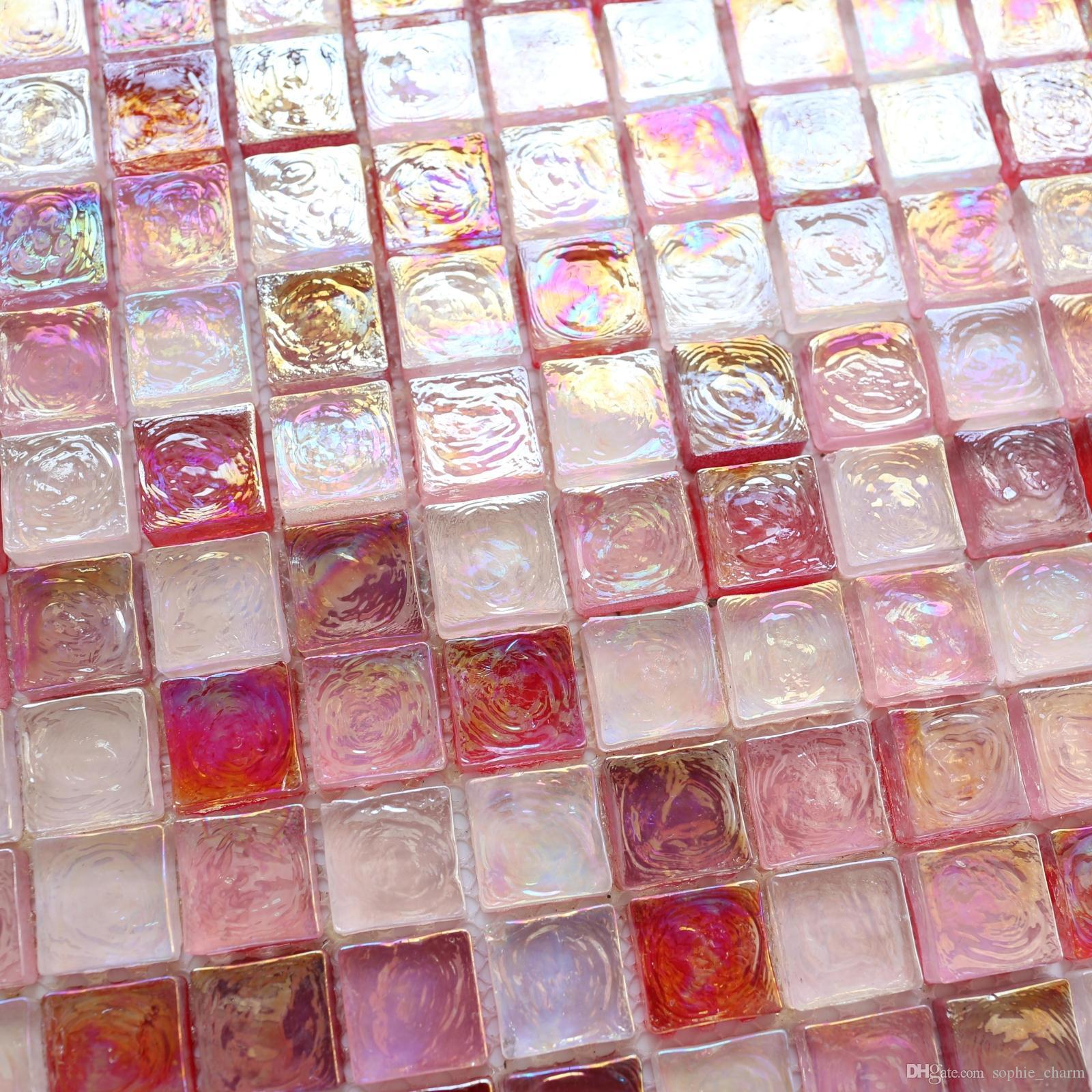 2019 sugar pink red rainbow stained glass mosaic kitchen tile rh dhgate com
