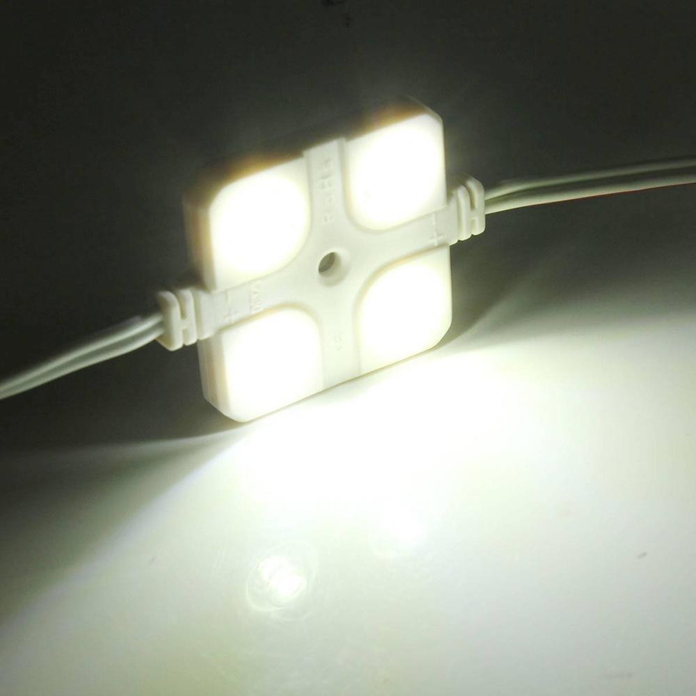 12V 10x4 LLEVÓ la lámpara del coche a prueba de agua dentro del kit de luz del techo para RV Van Boat Trailer Blanco brillante